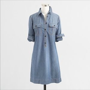 J.Crew Dress Chambray Shirtdress NWT Size XS NEW
